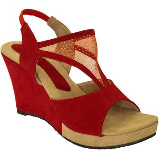 e6fb6e507f9 Buy Hansx Women s Red Wedges Online - Get 50% Off