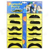Funcart Stick On Party Moustache Pack Of 12