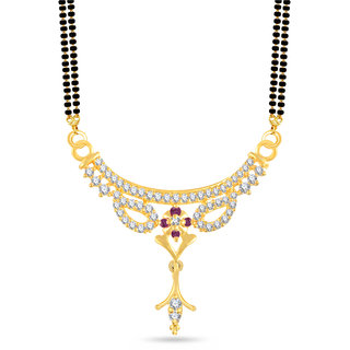 VK Jewels Good-Looking Gold and Rhodium Plated Alloy Mangalsutra for Women - MP1381G [VKMP1381G]