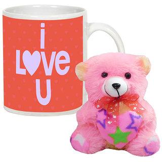 AllUPrints Lost In Your Love White Coffee Mug With Teddy - 11 oz