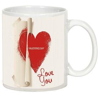 AllUPrints Special Gift For Boyfriend On Valentines Day White Coffee Mug - 11 oz