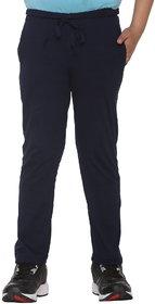 Vimal-Jonney Navy Blue Cotton Blended Trackpant For Boys