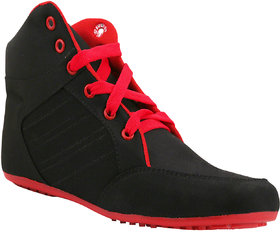 Hansx Women's Red & Black Smart Casuals Shoes