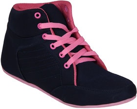 Hansx Women's Black  Pink Smart Casuals Shoes