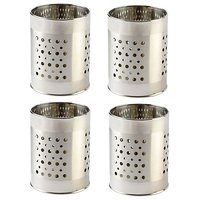 Stainless Steel Multipurpose Cutlery Holder Set Of 4 Pcs