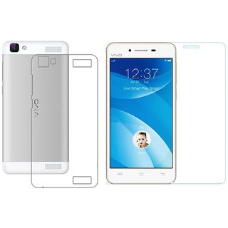 online store 20ee1 c1b37 Vivo V1 Max Transparent Back Cover with tempered glass
