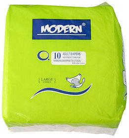 Modern Adult Unisex Diaper 10 Pieces- Size M - Premium Product
