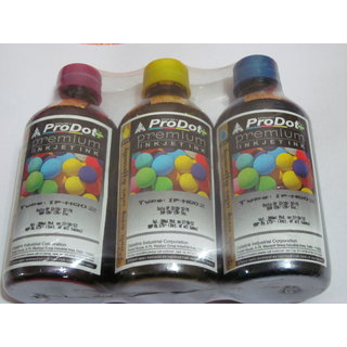 ProDot Premium INKJET COLOR INK 200MLx3 for Canon HP Samsung Printer cartidges