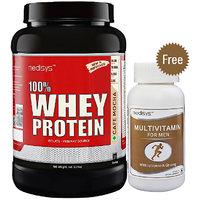 Medisys 100 Whey Protein - Cafe Mocha - 1Kg Free Multiv