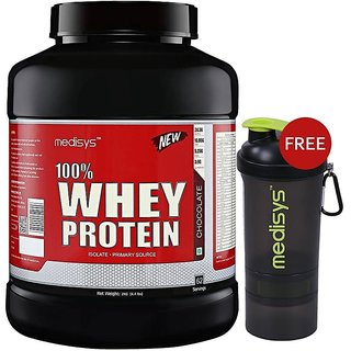 Medisys 100 Whey Protein - Chocolate - 2kg Free-Shaker