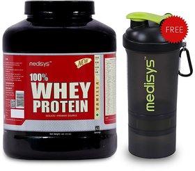 Medisys 100 Whey Protein - Vanilla - 2Kg Free Shaker