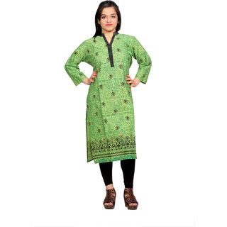 Indian Traditional Designer Kurti/Kurtis/Kurta Printed Long Straight Kurti For Women
