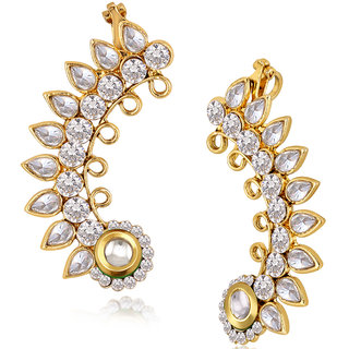 c0dbb19cb5bbd Spargz Antique Traditional Pearl American Diamond Ear Cuff Pair Earring  AIER 945