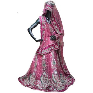 Women's Wine  Chiku Party Wear Lehengha Choli