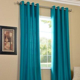 Eyelet Polyester Window Curtain - 5ft, Aqua