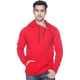 Demokrazy Men's Red Hooded Sweatshirt