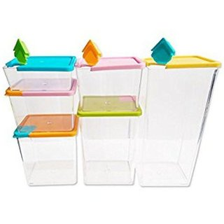 Ibs Food Spices Glass Container Set Polycarbonate of 6