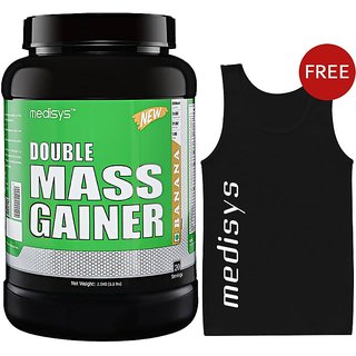 Medisys Double Mass Gainer - Banana - 1.5 Kg Free Sando