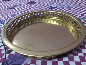 Pure Brass Puja Pooja Archana Heavy Weight Thali Plate