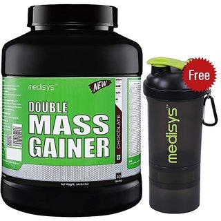 Medisys Double Mass Gainer - Chocolate 3Kg Free-Shaker