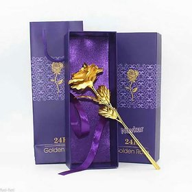 24K Golden Rose Chinese Handmade Flower Decorative