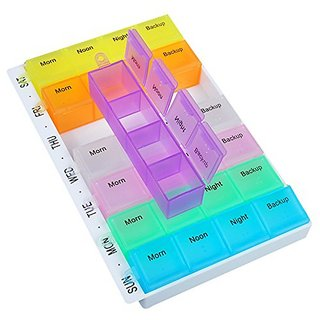 Kudos 7 Days Mini Pill Box Medicine Container Weekly Medicine Storage