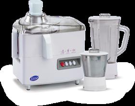 Glen GL-4013 450 W Juicer Mixer Grinder  (White, 2 Jars)