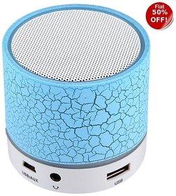 Unique Crack disco Light series - Mini Bluetooth Speaker With USB Port / Memory EZ063-Blue