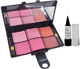 Miss Gold Make Up Artist 6 Color Blusher Free Kajal-RGGT-U