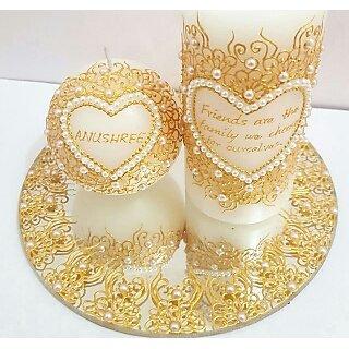 Designed candle set