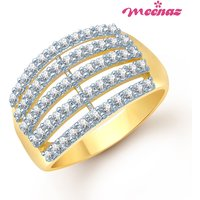 Meenaz Gold Plated Cubic Zirconia (Cz) Silver,Gold Rings For-Women