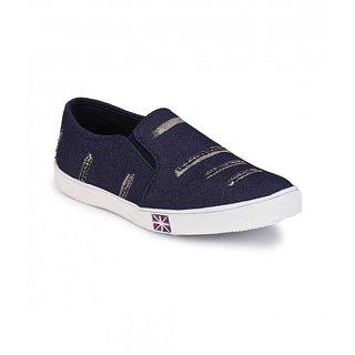 Groofer Men's Blue Slip on Casual Shoes