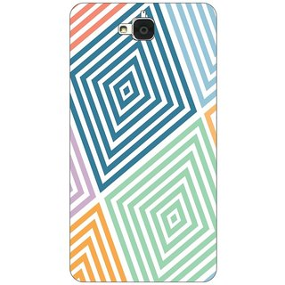 Go Hooked Designer Soft Back Cover For Huawei Honor Holly 2 Plus + Free Mobile Stand (Assorted Design)