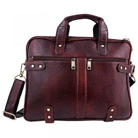 ZINT MEN'S PURE LEATHER BROWN LAPTOP BAG OFFICE BAG / MESSENGER BAG / PORTFOLIO BAG / GIFT FOR HIM