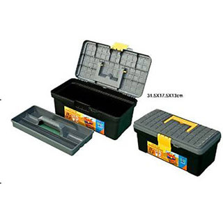 Professional 2 Layer Hardware Tool Box Tool Kit Box JUMBO 19.6 INCH / 500 MM