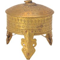 Beautiful Round Box With Stand Handicrafts Product By B