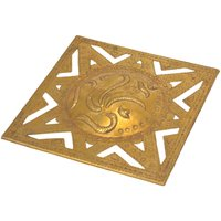 Decorative Traditional Brass Square Ganesh Wall Hanging