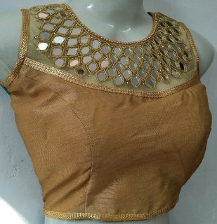 Mastani Gold Cotton Stitched Blouse