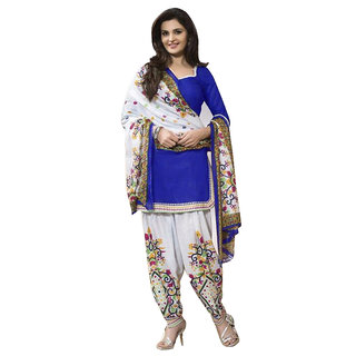 27d86f653a Mastani Blue Salwar Suit Material Printed Cotton Dress Material (Unstitched)