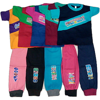 Om Shree Boys Multi colour Track Pant With Half Sleeves Cotton Tees Pack of 5