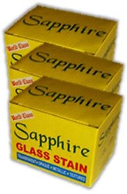 SAPPHIRE GLASS STAIN (GLASS COLOURS) 3 BOX MULTICOLOUR SET