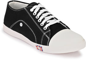 Ruggero Men's All Stars Black Canvas Shoes