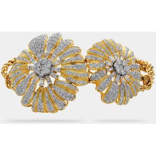 64FACETS Golden Twin Flowers Bracelet