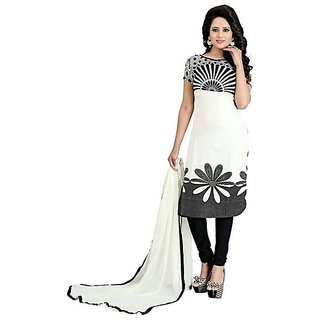 Tamanna Collection Presents White Color Suit For Girls