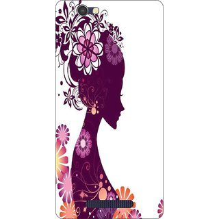 Go Hooked Designer Soft Back Cover For LAVA A72 + Free Mobile Stand (Assorted Design)