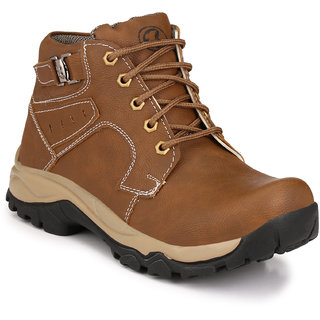 Knoos Men Brown Lace-Up Boots