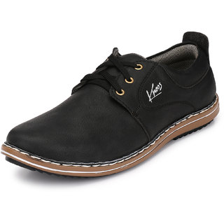 buy knoos men black laceup casual shoes online  get 65 off