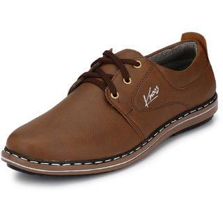 buy knoos men brown laceup casual shoes online  ₹1299
