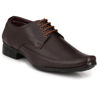 Knoos Men Brown Lace-Up Formal Shoes