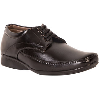 Mykon Men Black Lace-up Formal Shoes